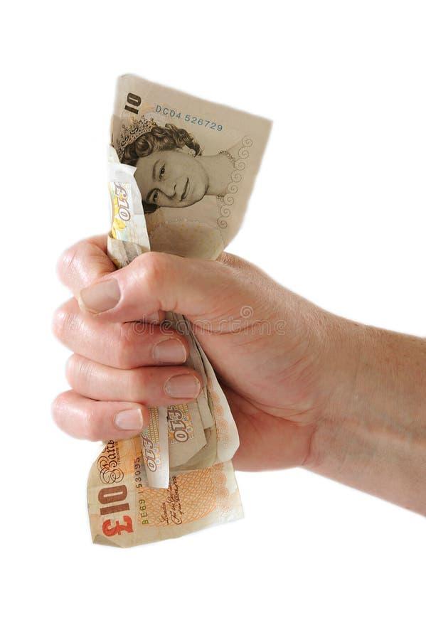 Vuist van Geld stock afbeelding