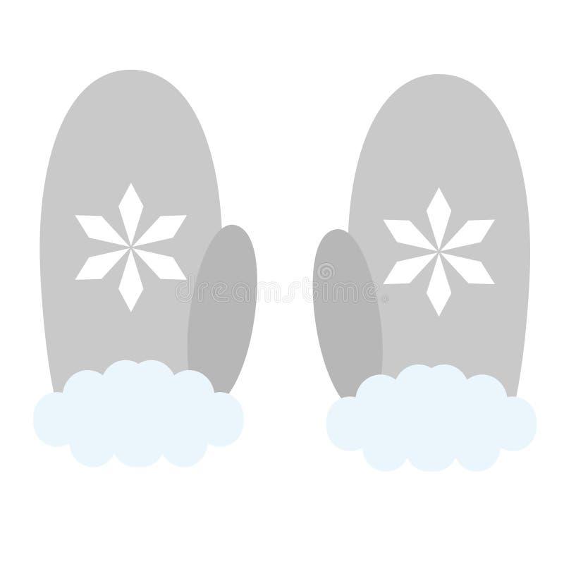 Vuisthandschoenen vlakke illustratie royalty-vrije illustratie