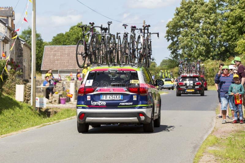 Vuiststap van de Reis 2016 van Cyclusfrankrijk stock foto