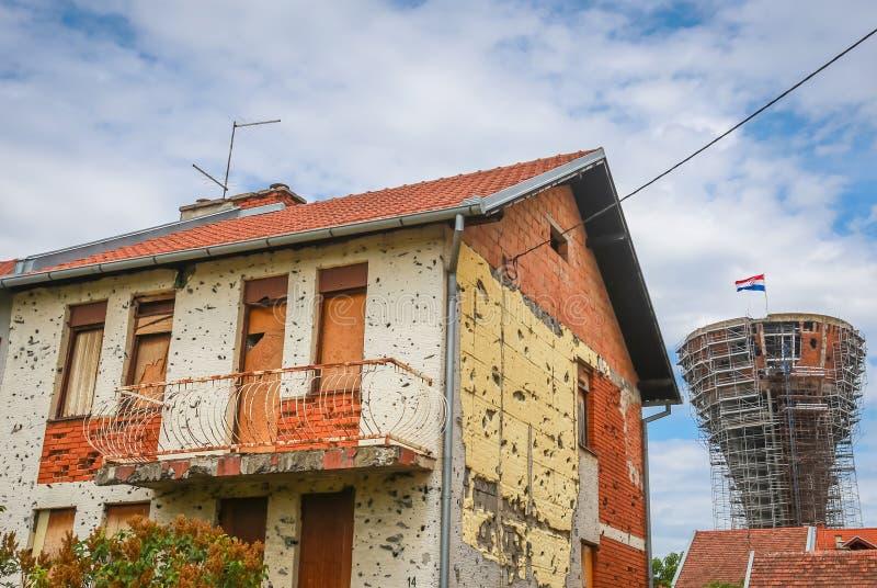Vukovar wieża ciśnień obraz royalty free