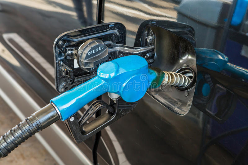 Vul brandstof stock foto