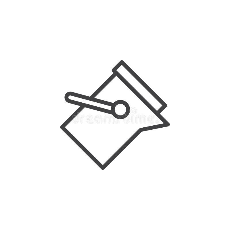 Vul het pictogram van het hulpmiddeloverzicht royalty-vrije illustratie