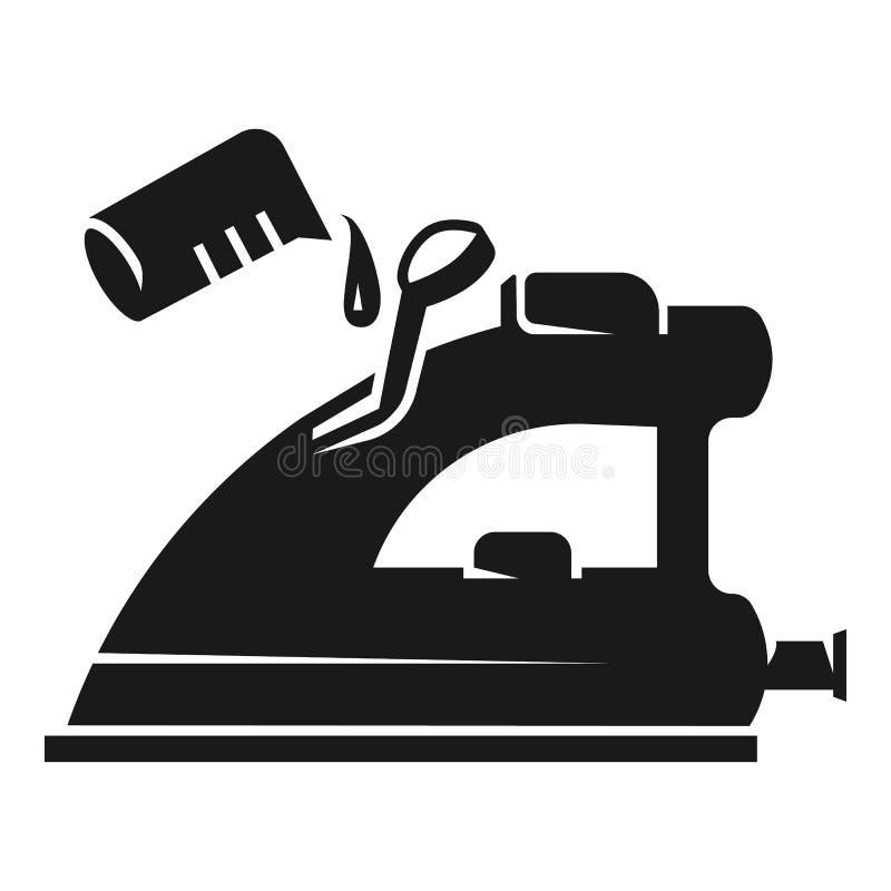 Vul het pictogram van het waterijzer, eenvoudige stijl stock illustratie