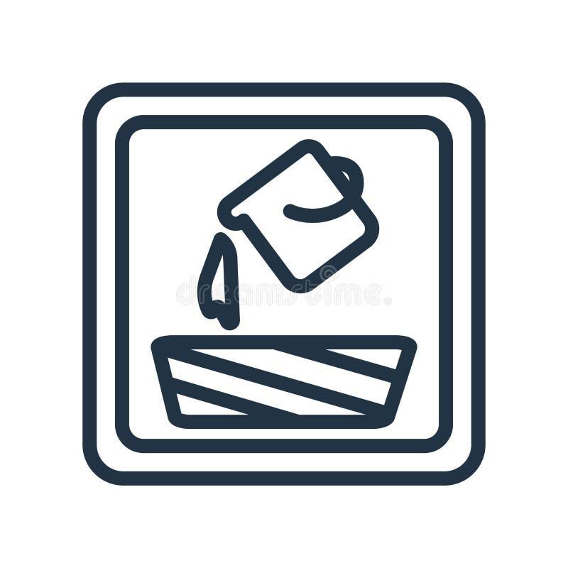Vul pictogramvector op witte achtergrond wordt geïsoleerd, vul teken dat royalty-vrije illustratie