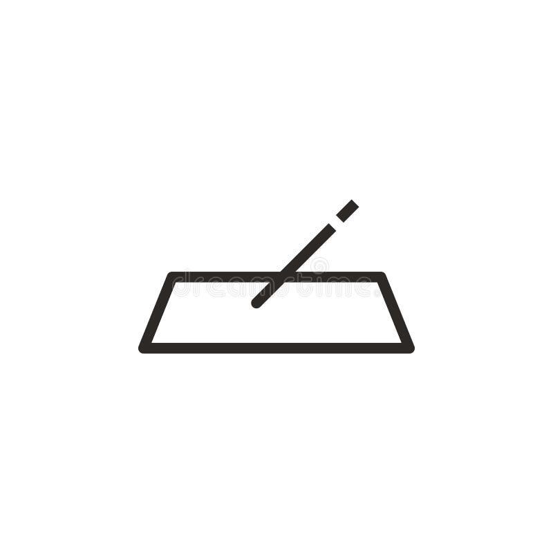 Vul, vorm vectorpictogram Element van ontwerphulpmiddel voor mobiele concept en webtoepassingenvector Dun lijnpictogram voor webs royalty-vrije illustratie