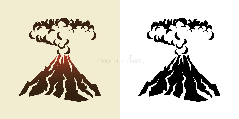 vulcão foto de stock