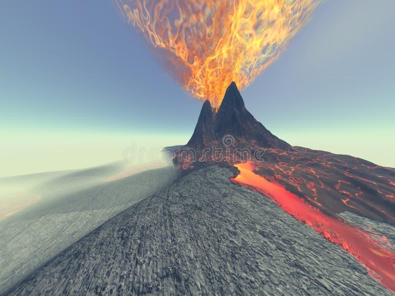 Vulcão ilustração do vetor