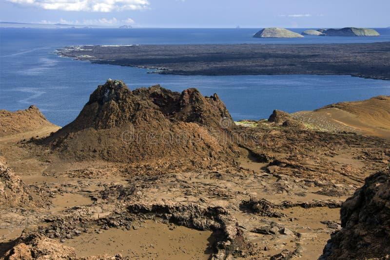Vulcão - consoles de Galápagos fotografia de stock