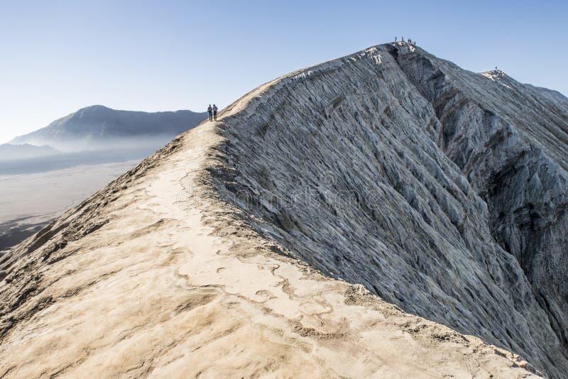 Vulcão de Bromo em Java, Indonésia imagem de stock