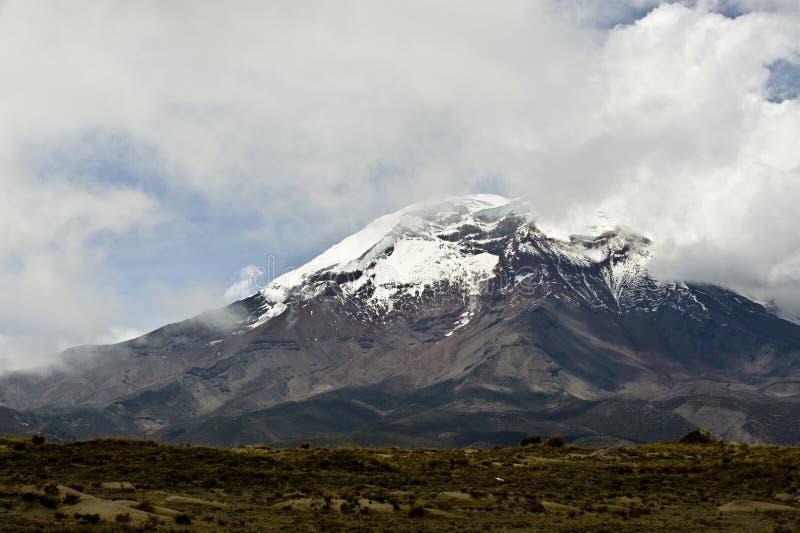 Vulcão de Chimborazo. A cimeira a mais alta de Equador imagens de stock royalty free