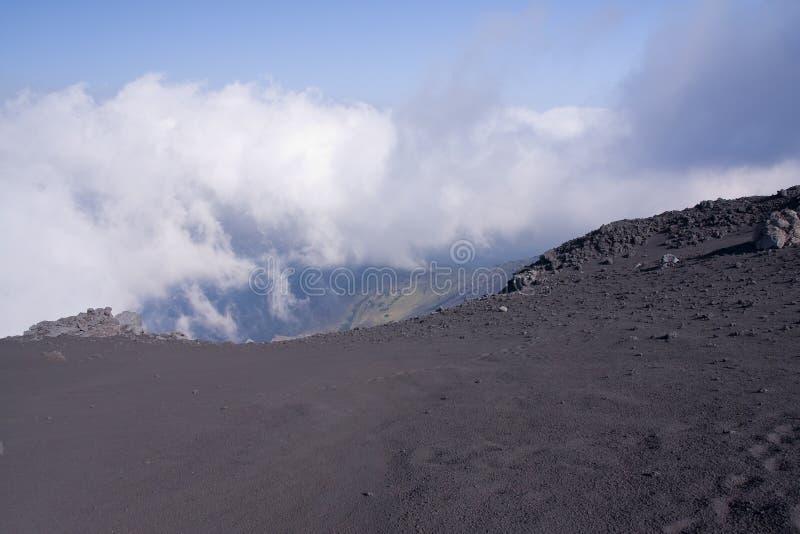 Vulcão de Etna foto de stock royalty free