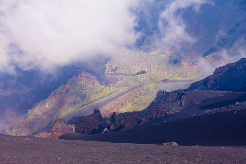 Vulcão de Etna fotos de stock