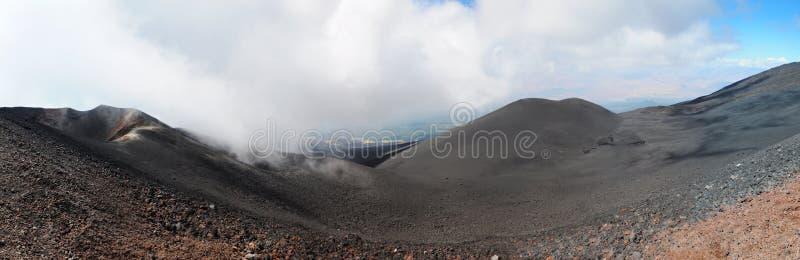 Vulcão de Etna - panorama imagem de stock