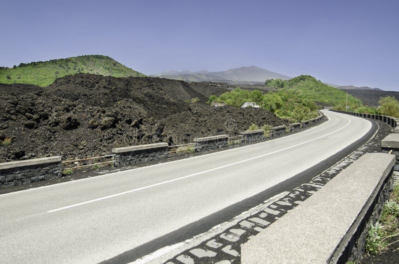 Vulcão de Etna, Sicília imagem de stock