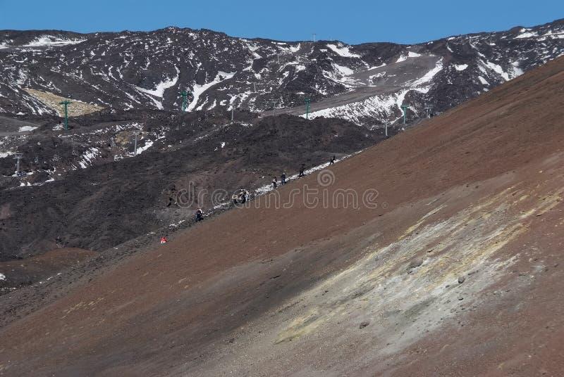 Vulcão de Etna, Sicília imagens de stock