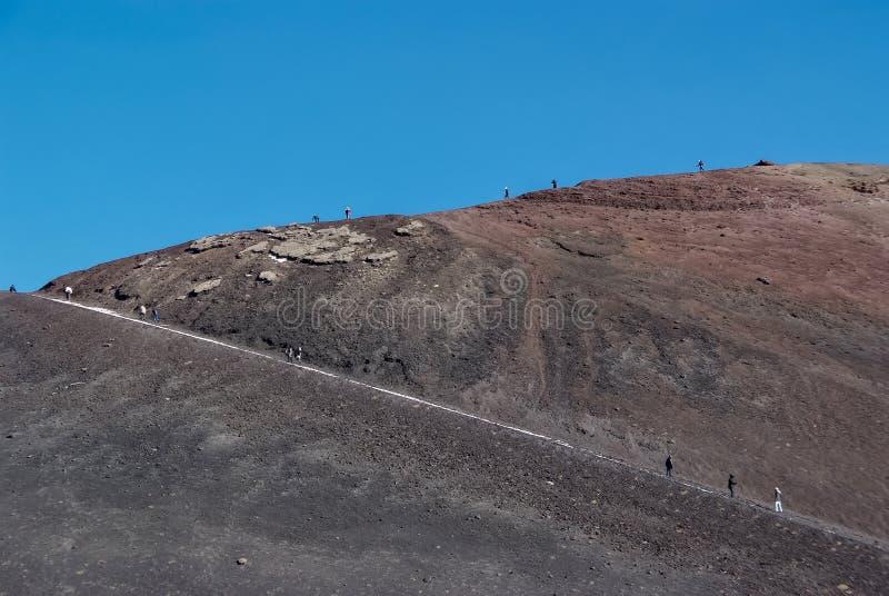 Vulcão de Etna, Sicília imagens de stock royalty free