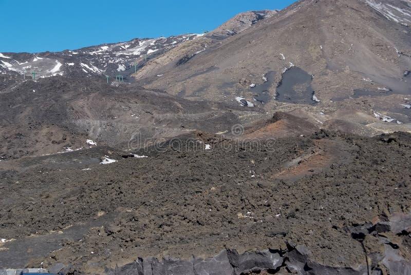 Vulcão de Etna, Sicília foto de stock