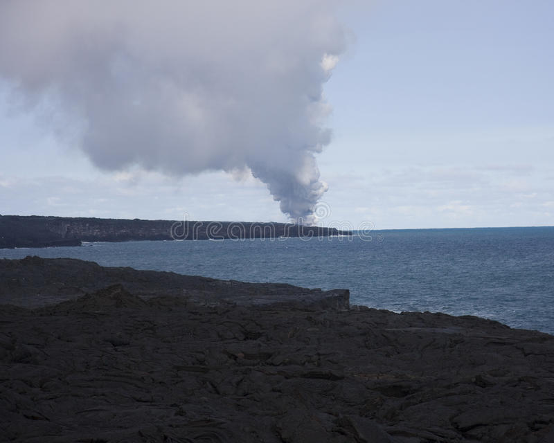 Vulcão de Havaí fotografia de stock