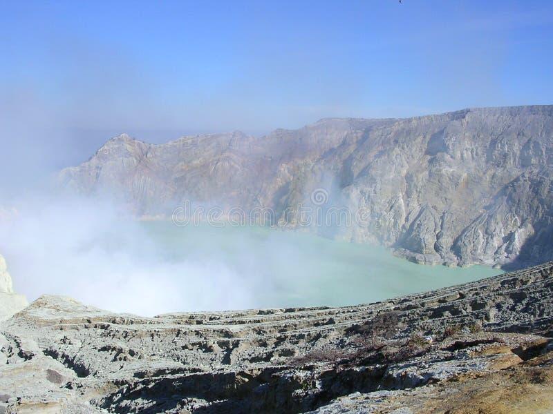 Vulcão de Ijen fotografia de stock