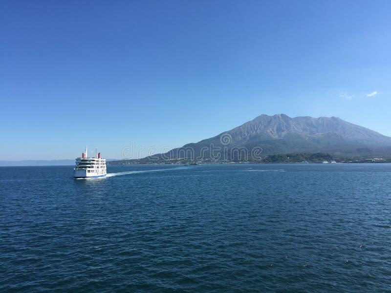Vulcão de Kagoshima imagem de stock royalty free