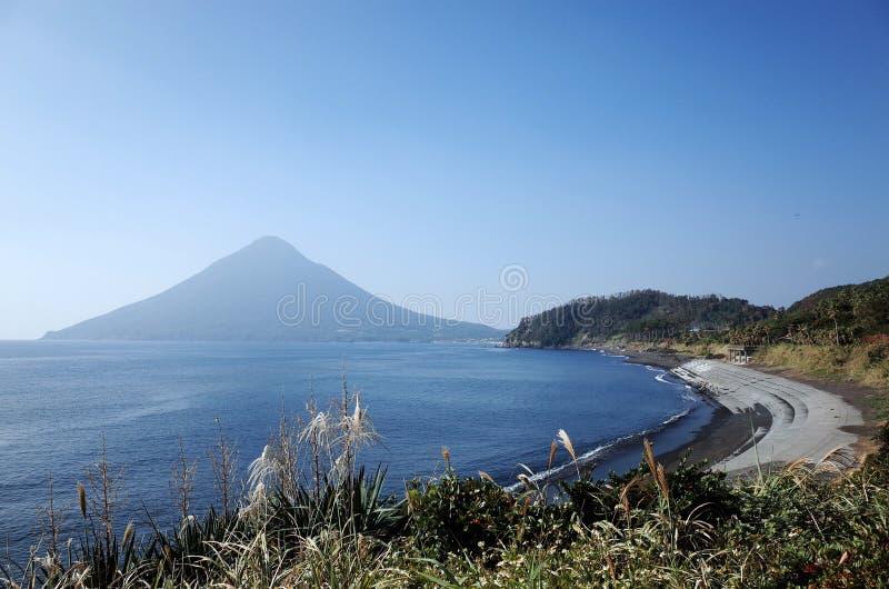 Vulcão de Kaimondake fotos de stock royalty free