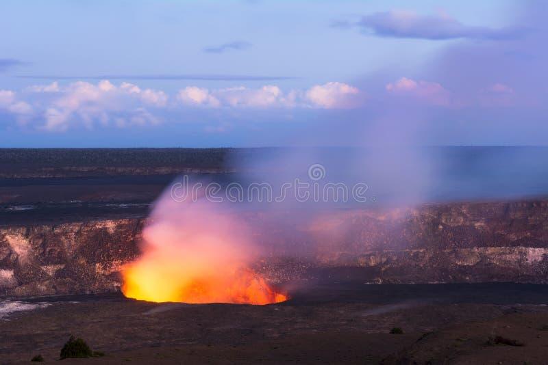 Vulcão de Kileaua imagem de stock