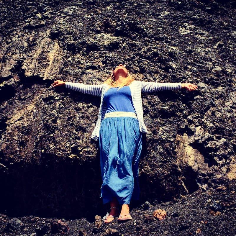 Vulcão de Lanzarote imagem de stock royalty free