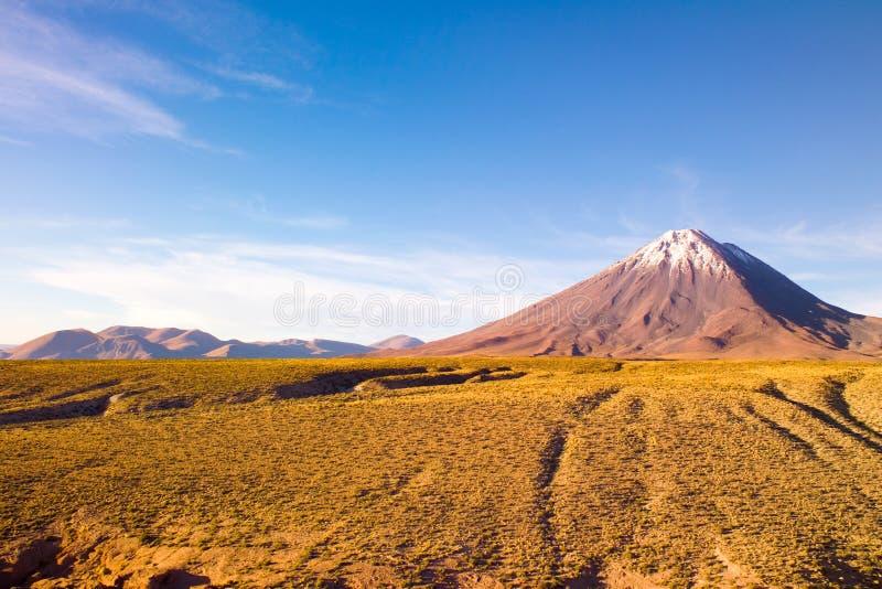 Vulcão de Licancabur no Altiplano imagens de stock