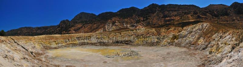 Vulcão de Nisyros imagem de stock