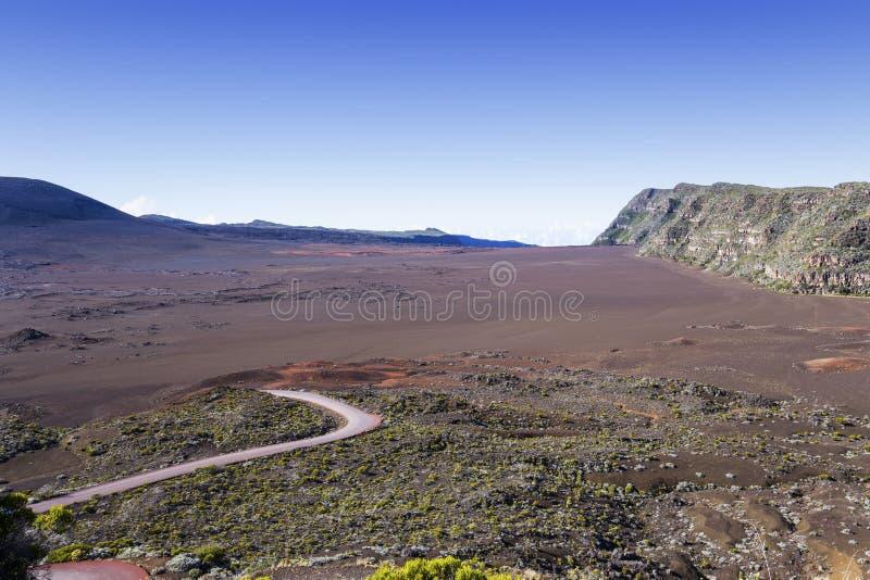 Vulcão de Pitão de la Fournaise, Reunion Island, França imagem de stock