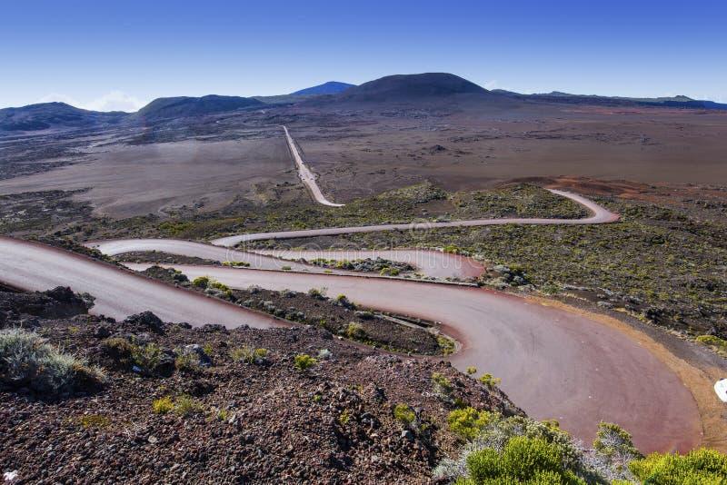 Vulcão de Pitão de la Fournaise, Reunion Island, França imagens de stock royalty free
