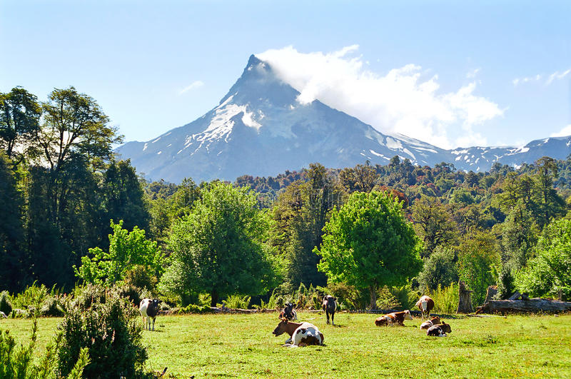 Vulcão de Puntiagudo, o Chile