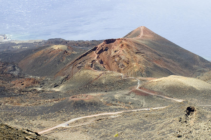Vulcão de Teneguia foto de stock royalty free