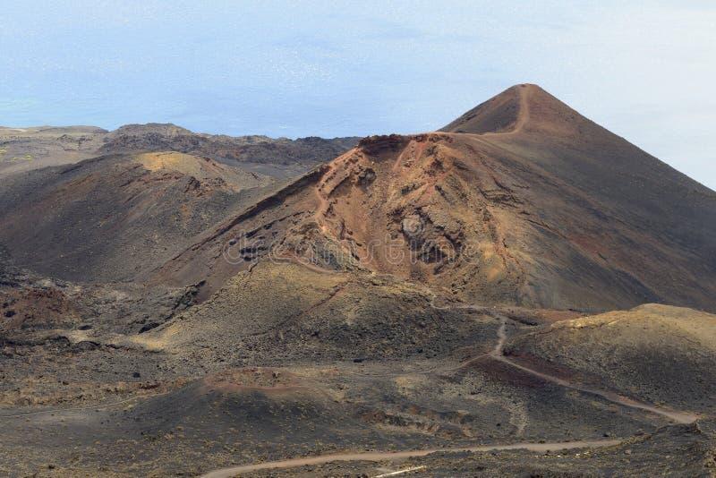 Vulcão de Teneguia imagem de stock