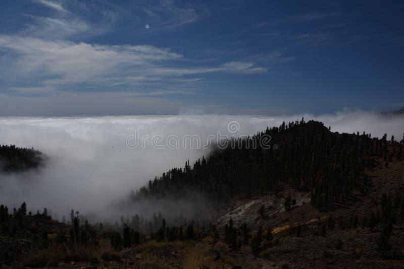 Vulcão do interior de Teneryfa imagens de stock