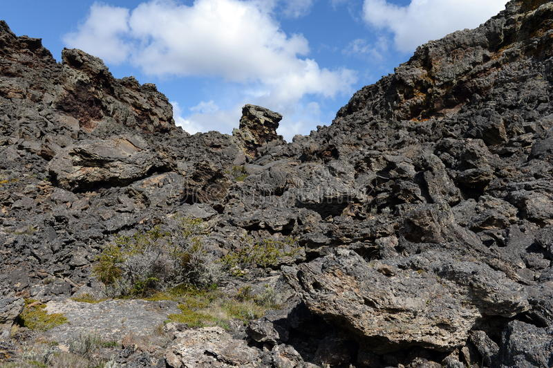 Vulcão extinto o domicílio do diabo no parque nacional Pali Aike foto de stock royalty free