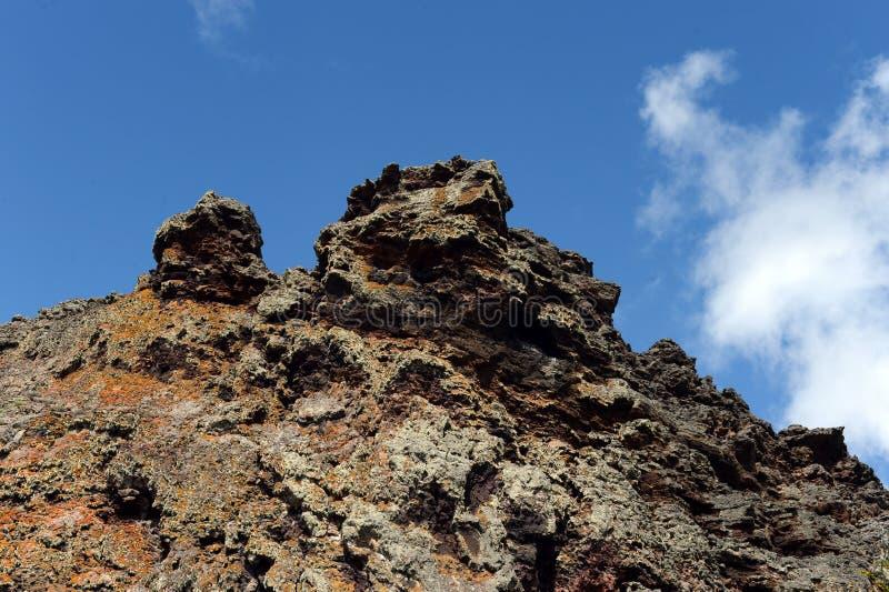 Vulcão extinto o domicílio do diabo no parque nacional Pali Aike fotos de stock royalty free