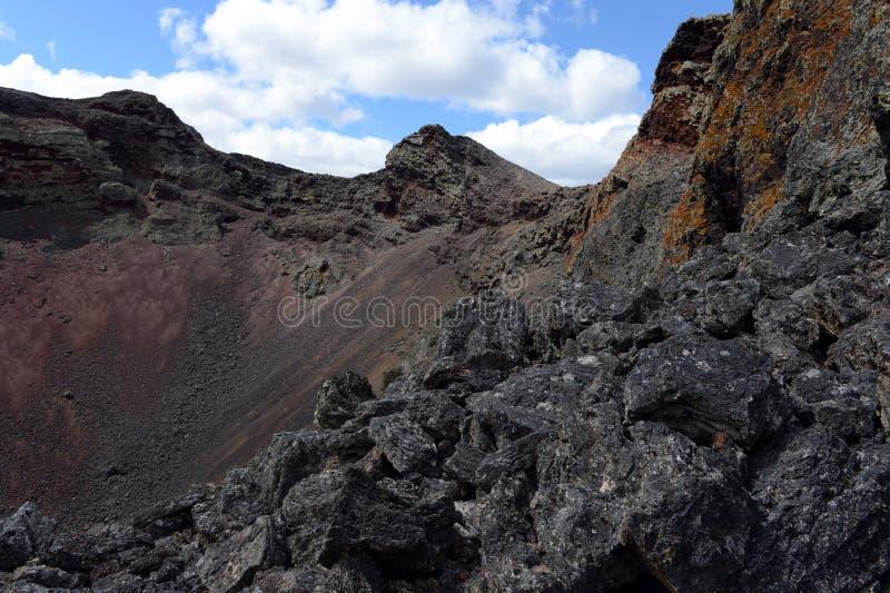 Vulcão extinto o domicílio do diabo no parque nacional Pali Aike fotografia de stock royalty free