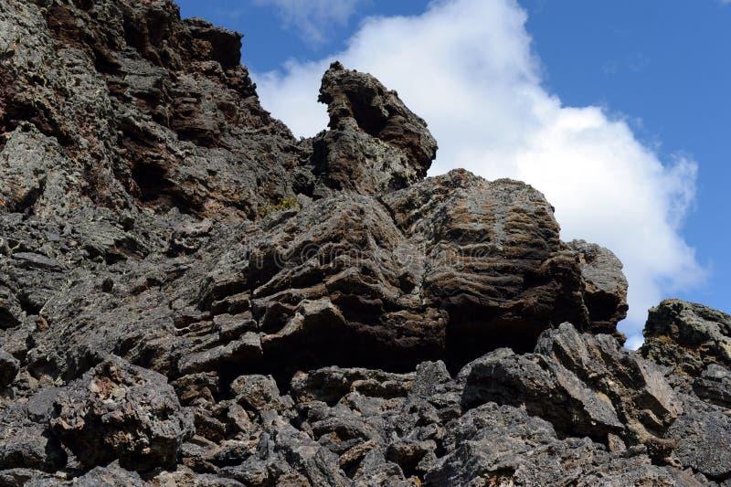Vulcão extinto o domicílio do diabo no parque nacional Pali Aike imagens de stock royalty free