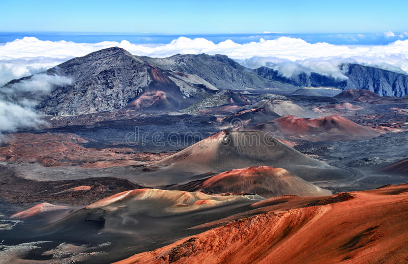 Vulcão Haleakala, Havaí (Maui) fotos de stock royalty free