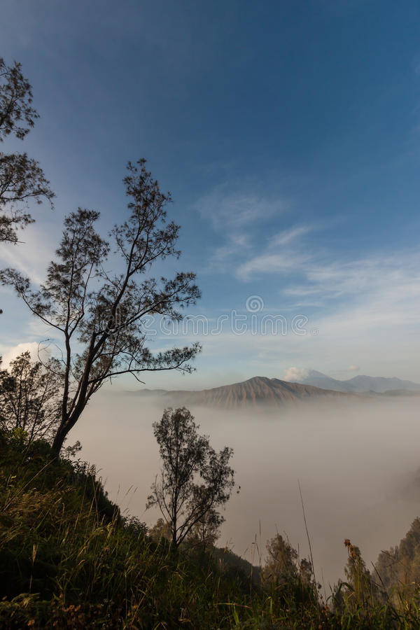 Vulcão Indonésia imagens de stock