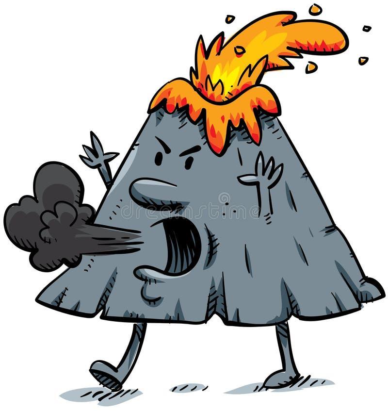 Vulcão irritado ilustração do vetor