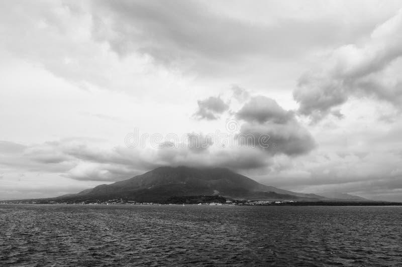 Vulcão, Sakurajima, Kagoshima imagens de stock royalty free