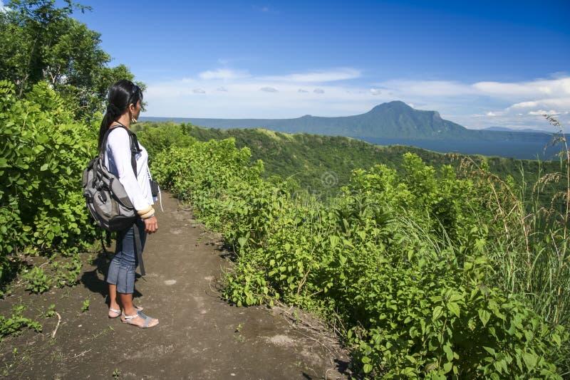 Vulcão taal Filipinas tagaytay do lago imagem de stock