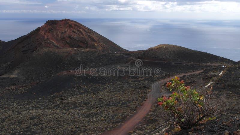 Vulcão Teneguia. La Palma.Canary imagem de stock