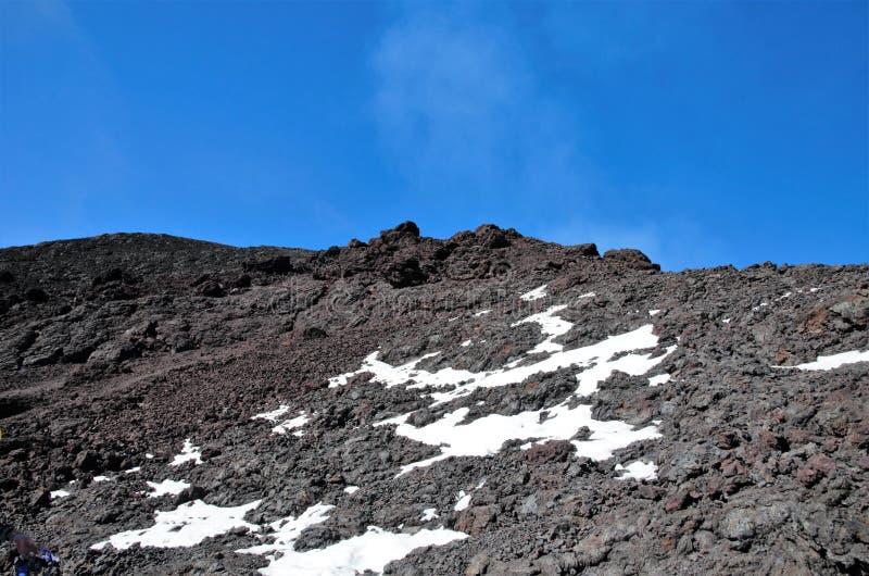 Vulcão Villarrica do passeio na montanha, Pucon o Chile imagens de stock