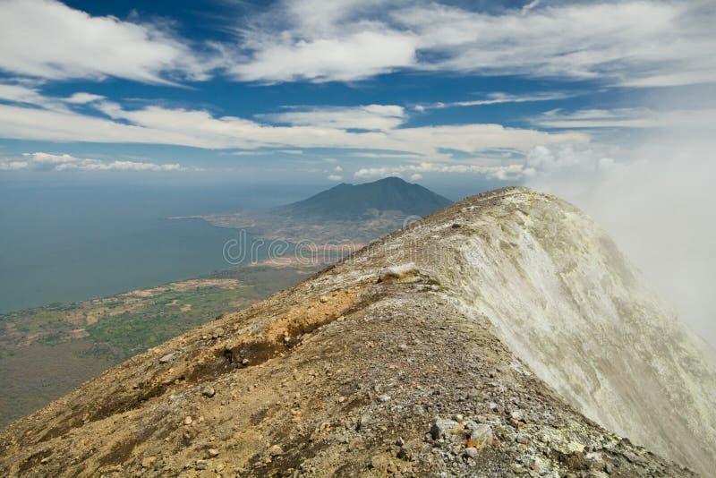 Vulcões de Nicarágua foto de stock royalty free