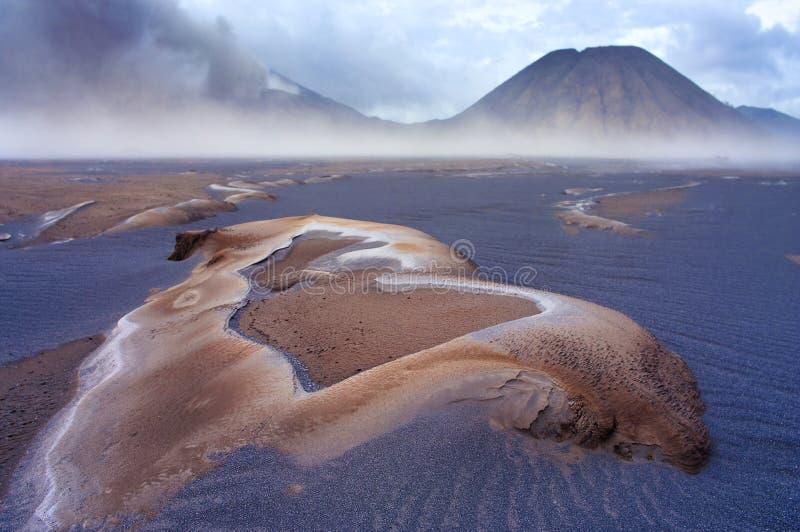 Vulcões do parque nacional de Bromo imagem de stock royalty free