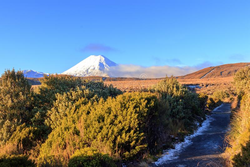 Vulcões no parque nacional de Tongariro, Nova Zelândia imagens de stock