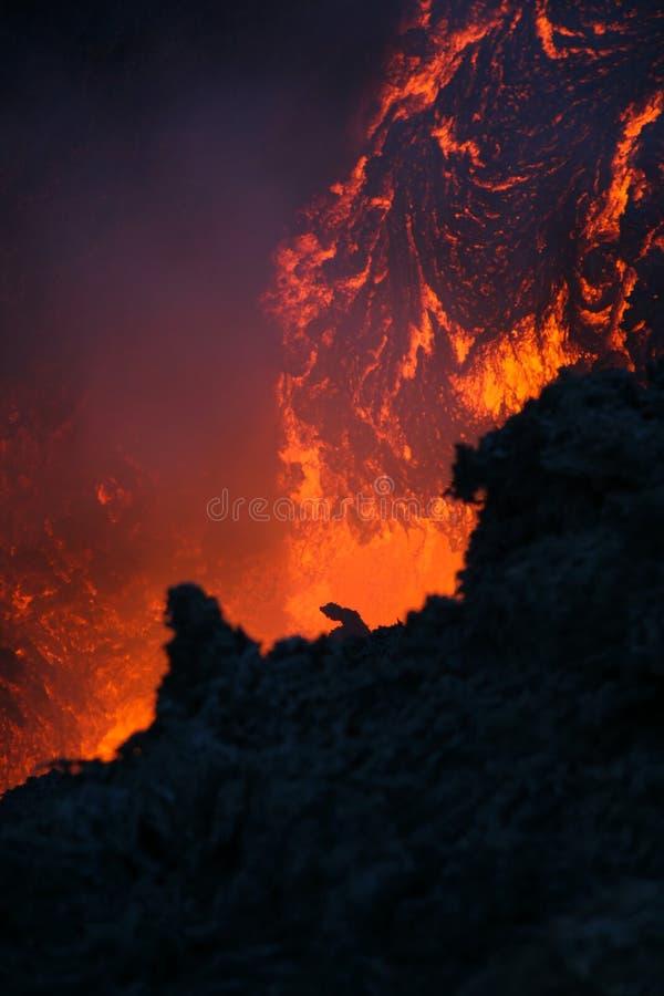 vulcan的熔岩 免版税库存图片